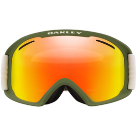 Oakley O Frame 2.0 Pro XL Maschera da sci Uomo, green/fire iridium&persimmon
